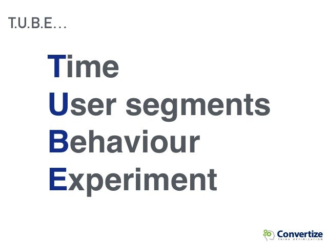 T.U.B.E… Time User segments Behaviour Experiment