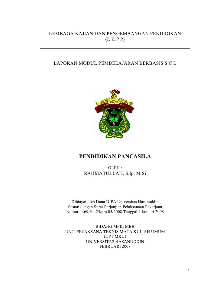LEMBAGA KAJIAN DAN PENGEMBANGAN PENDIDIKAN                  (L K P P) LAPORAN MODUL PEMBELAJARAN BERBASIS S C L           ...