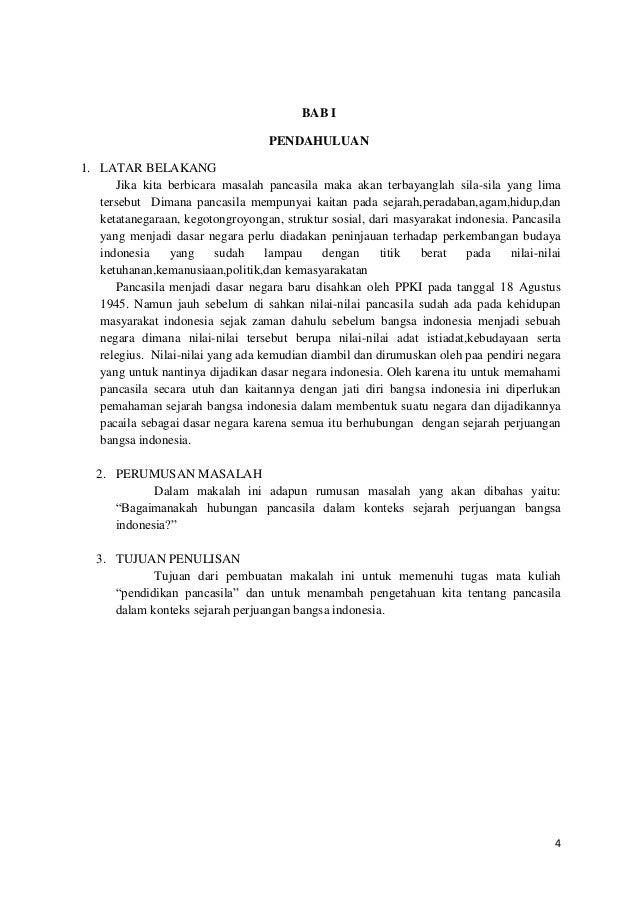 Pancasila Dalam Sejarah Perjuangan Bangsa Indonesia