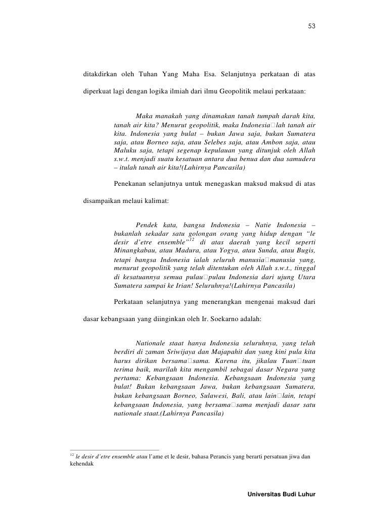 Essay Geopolitik Dengan Sumpah Pemuda Pancasila Menurut Soekarno