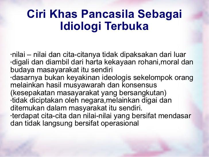 Pancasila Sebagai Idiologi Terbuka