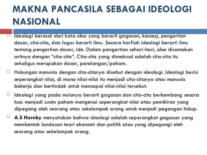 Pancasila Sebagai Dasar Negara Dan Ideologi Nasional