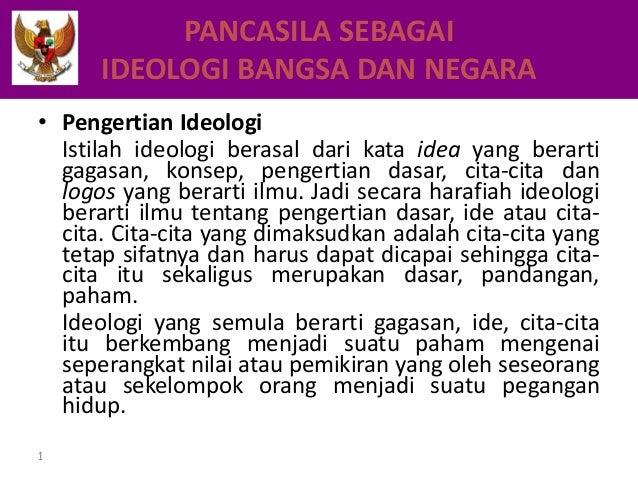 Pancasila Sebagai Ideologi Bangsa Negara