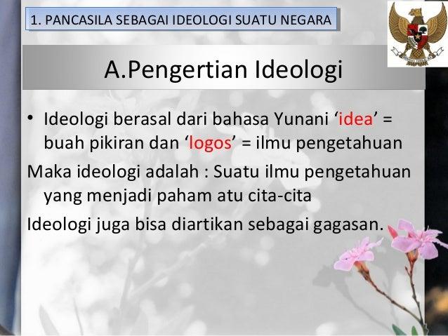 Pancasila sebagai ideologi dan dasar negara