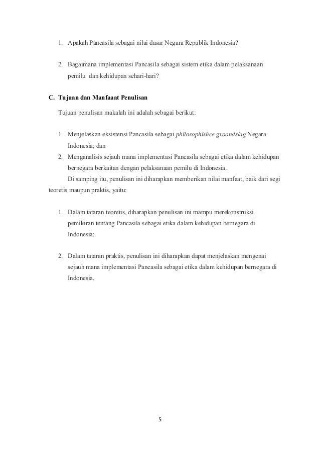 Pancasila Sebagai Sistem Etika Kelompok 1 Akhwat Keperawatan 2017