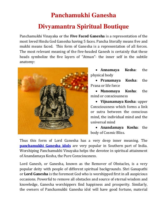 Panchamukhi (five faced)_ganesha-divyamantra