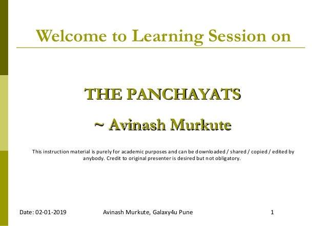 The Panchayat Raj System or Gram Sabha