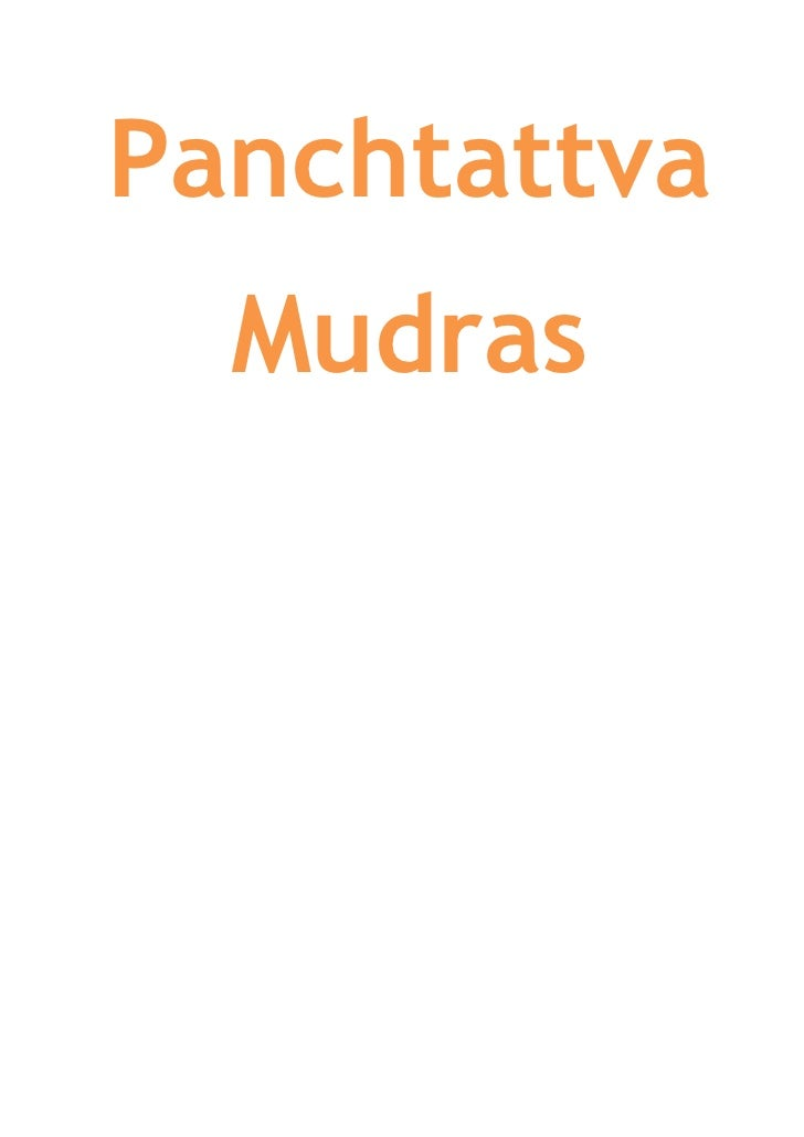 Panchtattva  Mudras