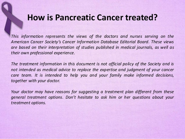 Pancreatic Cancer Treatments