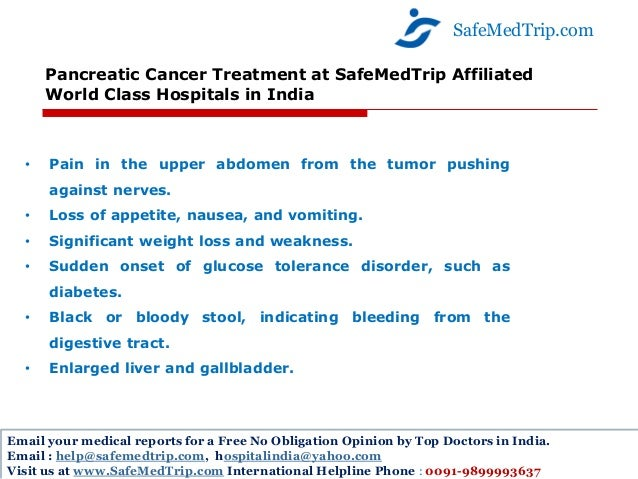 Pancreatic Cancer Treatment At Safemedtrip Affiliated
