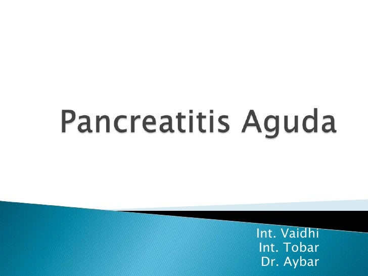 Pancreatitis Aguda<br />