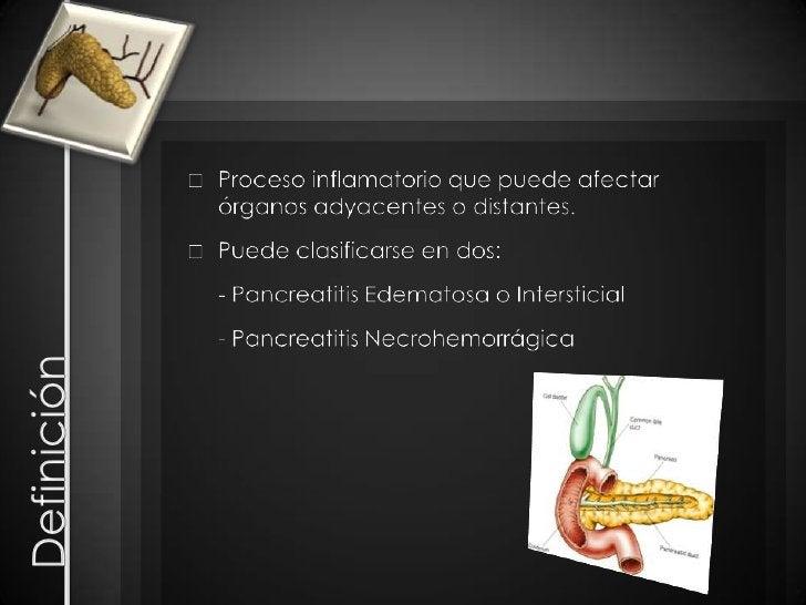 Definición<br />Proceso inflamatorio que puede afectar órganos adyacentes o distantes.<br />Puede clasificarse en dos:<br ...