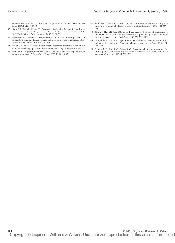 International study group of pancreatic surgery