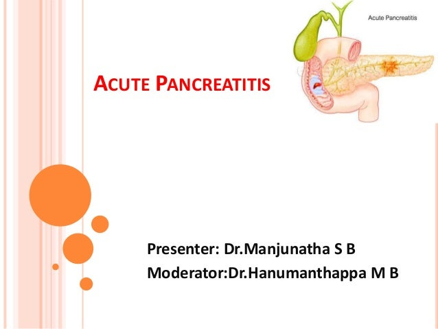 Types of Pancreatitis