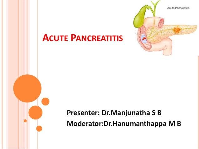 Types of Pancreatitis