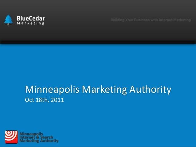 Minneapolis Marketing Authority Oct 18th, 2011