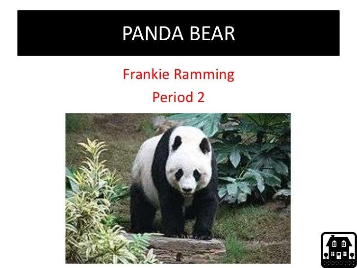 PANDA BEARFrankie Ramming    Period 2