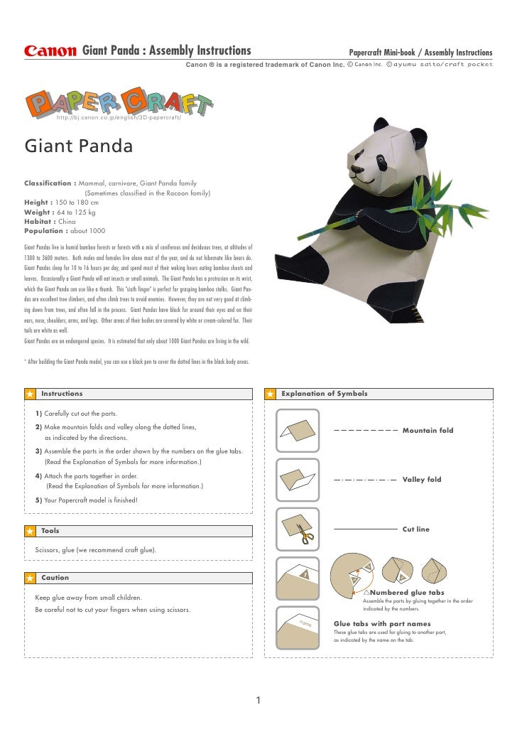 Giant Panda : Assembly Instructions                                                                               Papercra...