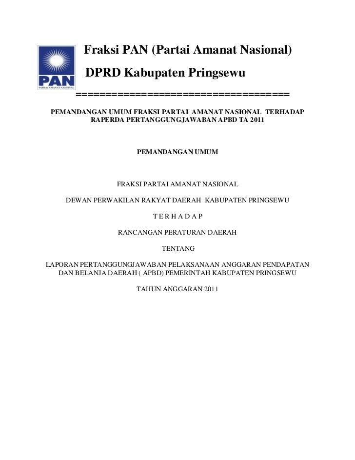 Fraksi PAN (Partai Amanat Nasional)         DPRD Kabupaten Pringsewu      ==================================== PEMANDANGAN...