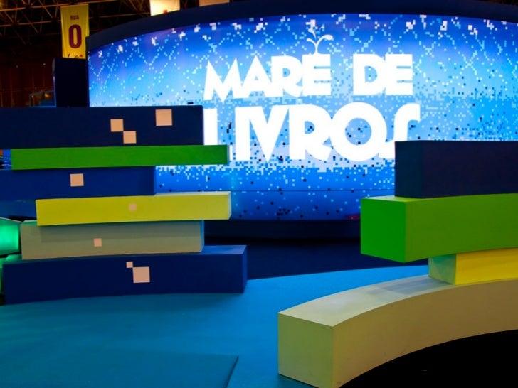 Espaço de visitação para todas as idades com 600m2 na Bienal do Livro de 2011no Rio de Janeiro.