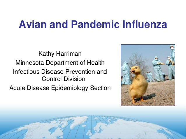 Avian and Pandemic Influenza  Kathy Harriman  Minnesota Department of Health  Infectious Disease Prevention and  Control D...