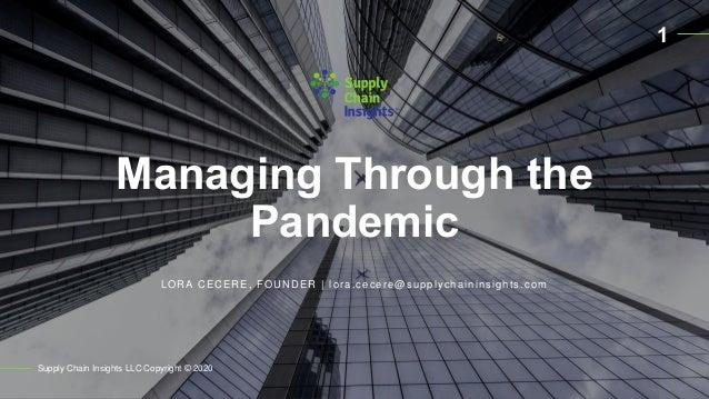 Webinar Presentation on Pandemic Research
