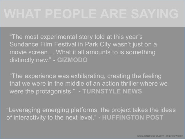 An official selection of the Sundance Film Festival, PANDEMIC 1.0 was an immersivestorytelling experience designed for 40,0...