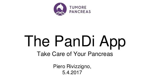 The PanDi App. Take Care of Your Pancreas.