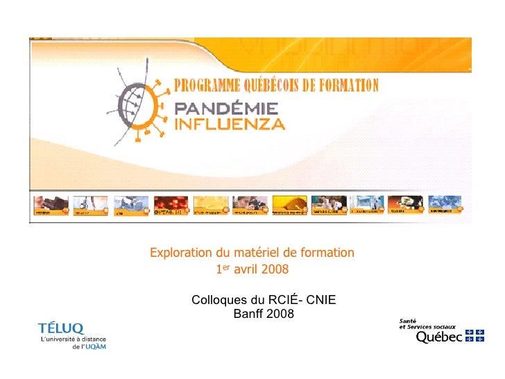 Colloques du RCIÉ- CNIE Banff 2008