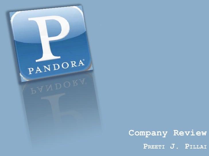 Company Review  PREETI J. PILLAI