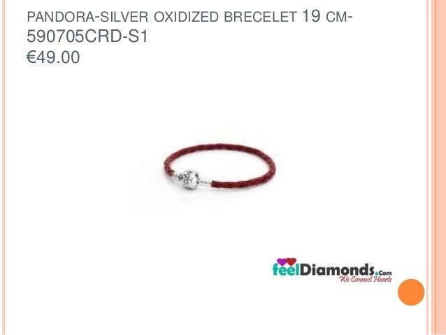 PANDORA-SILVER OXIDIZED BRECELET 19 CM-  590705CRD-S1  €49.00