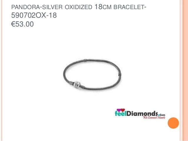 PANDORA-SILVER OXIDIZED 18CM BRACELET-  590702OX-18  €53.00