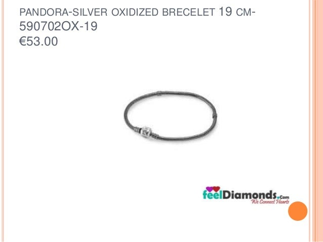 PANDORA-SILVER OXIDIZED BRECELET 19 CM-  590702OX-19  €53.00