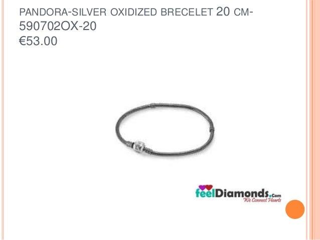 PANDORA-SILVER OXIDIZED BRECELET 20 CM-  590702OX-20  €53.00