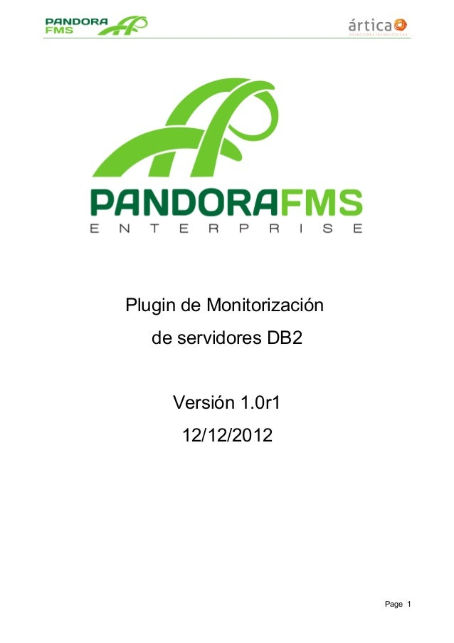 Plugin de Monitorización de servidores DB2 Versión 1.0r1 12/12/2012 Page 1