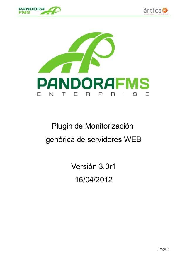 Plugin de Monitorización genérica de servidores WEB Versión 3.0r1 16/04/2012 Page 1