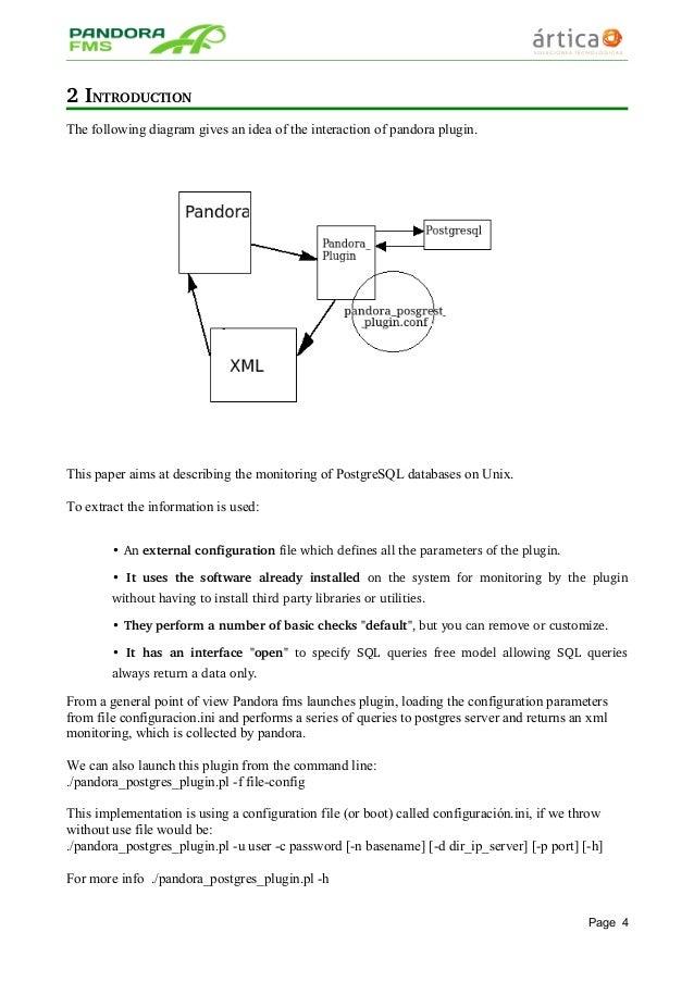 Pandora Fms Postgresql Plugin