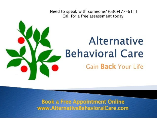 Need to speak with someone? (636)477-6111          Call for a free assessment today                    Gain Back Your Life...