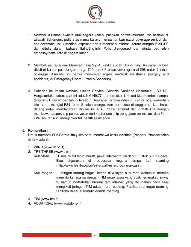 Buku panduan kuliah di italia for Permesso di soggiorno schengen