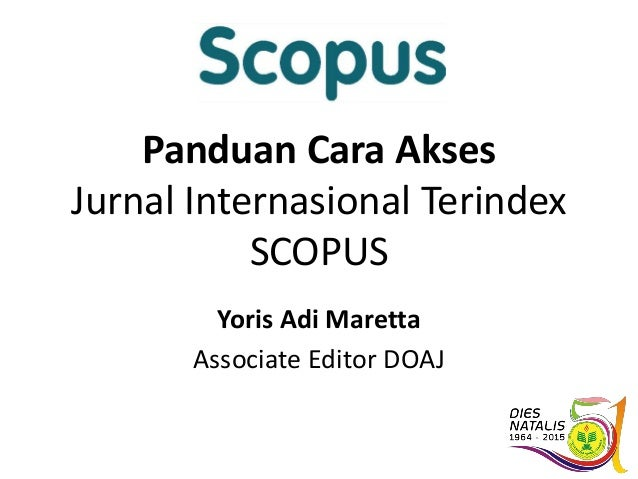 Panduan Akses Jurnal Internasional Terindex Scopus Thomson