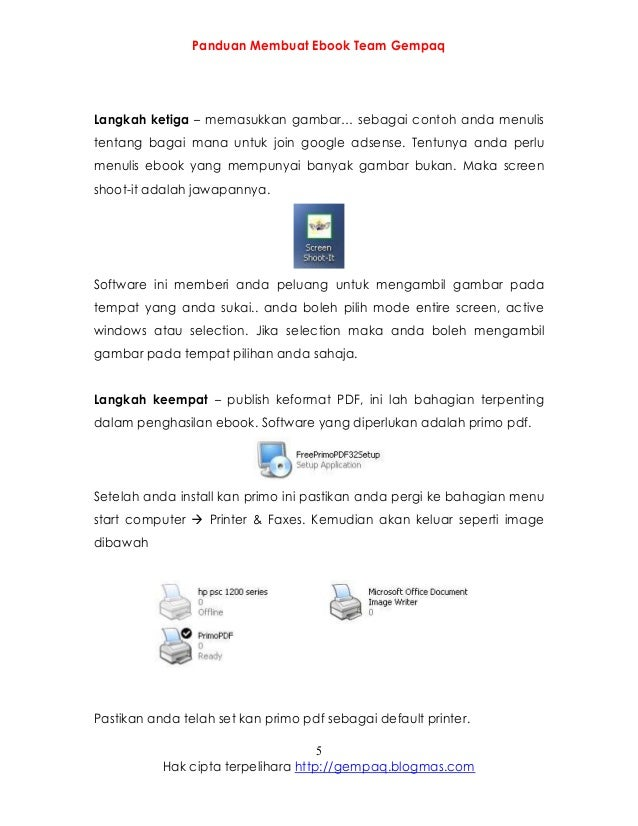 Panduan Membuat Ebook
