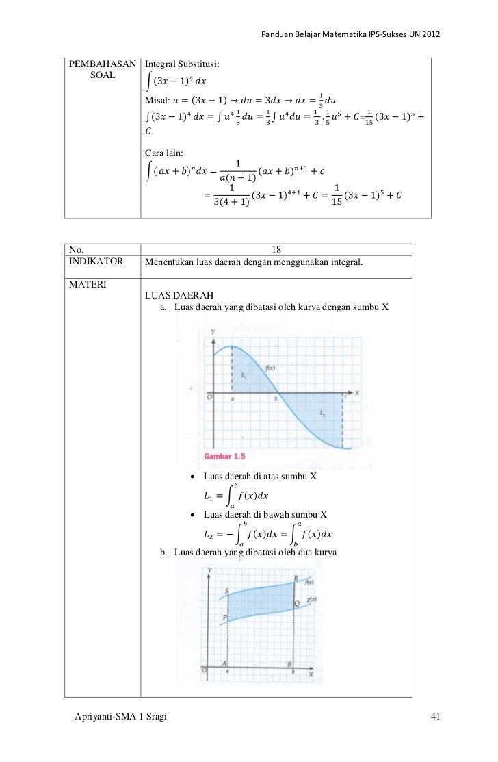 Panduan Belajar Matematika Ips Un 2012