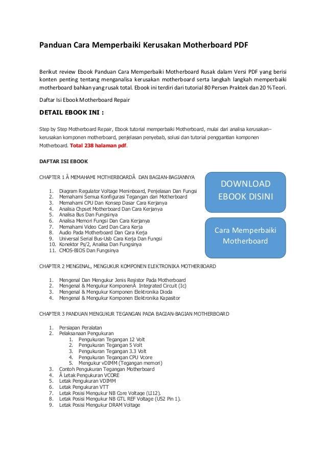 Panduan Cara Memperbaiki Motherboard Pdf