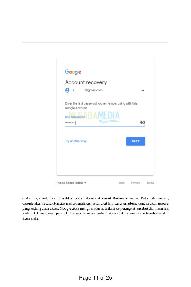 Panduan Cara Memulihkan Sandi Akun Gmail Google Yang Hilang Terlupa