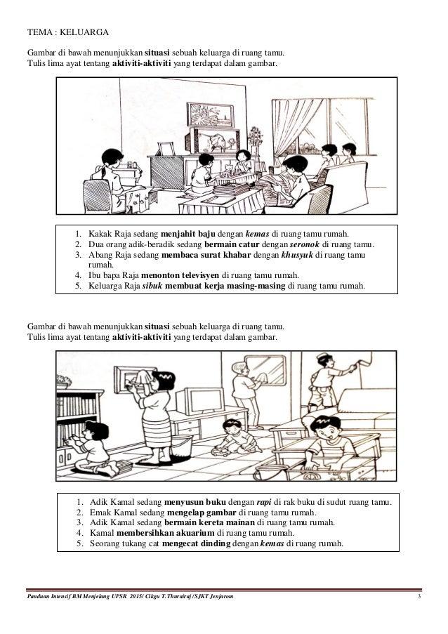 Panduan Contoh Gambar Dan Ayat Bahagian A Bahasa Melayu Upsr Sjk 2015