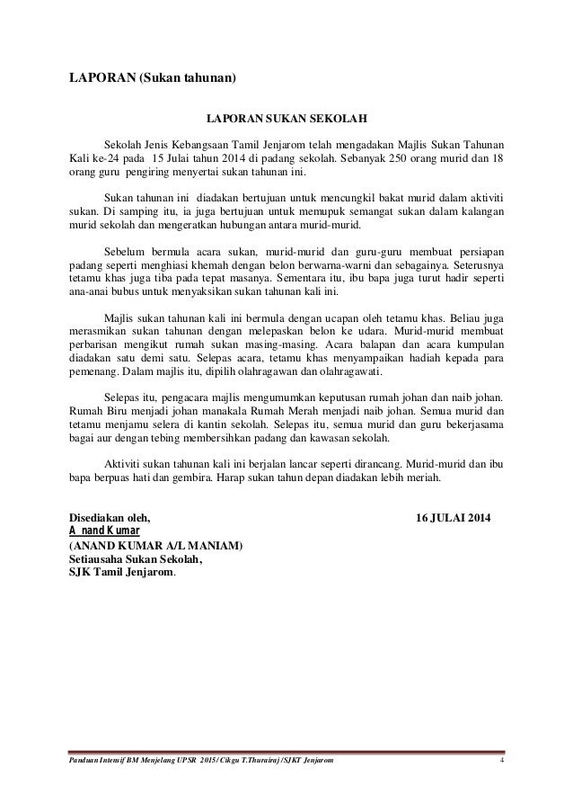 Contoh Karangan Upsr Laporan Gotong Royong - Lowongan