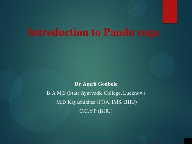 Pandu (Anemia)  Slide 2