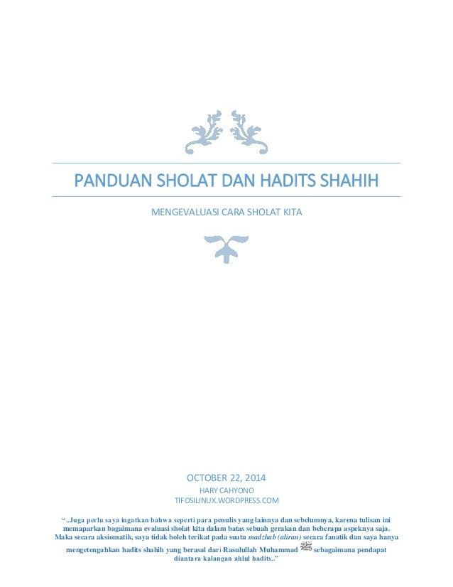 Panduan Evaluasi Sholat Dan Hadits Shahih Mengevaluasi Cara Sholat