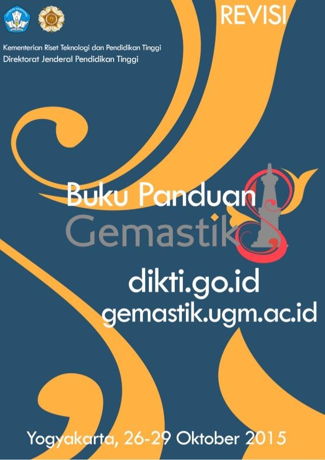GEMASTIK8      UNIVERSITAS  GADJAH  MADA   26-‐29  OKTOBER  2015