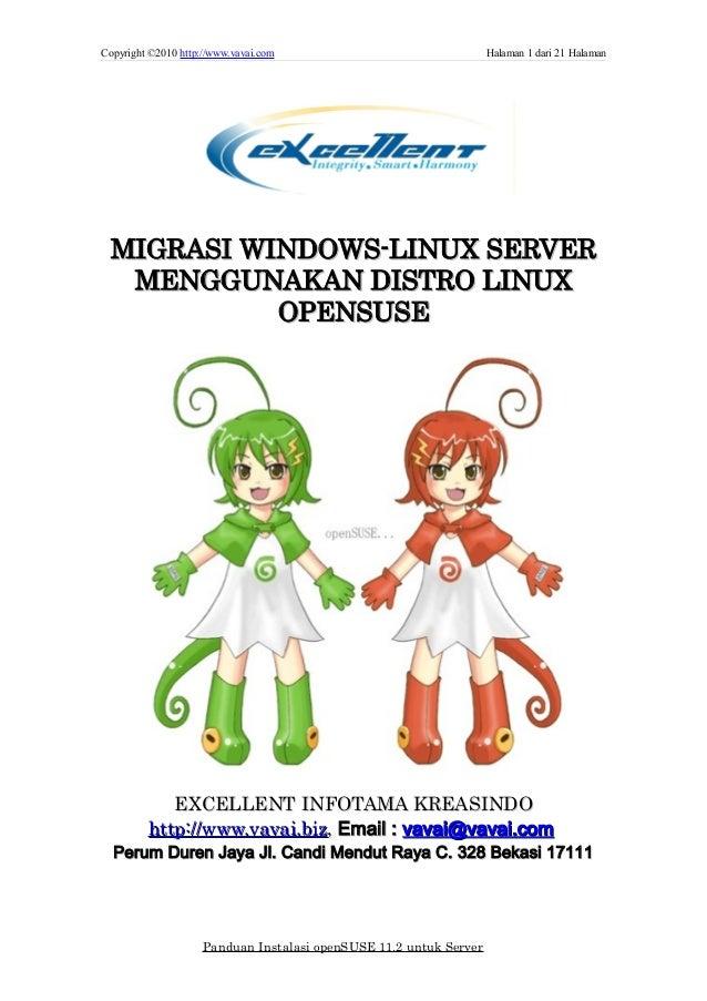 Copyright ©2010 http://www.vavai.com Halaman 1 dari 21 Halaman MIGRASI WINDOWS-LINUX SERVERMIGRASI WINDOWS-LINUX SERVER ME...